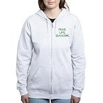 Peace Love Geocaching - Green Women's Zip Hoodie