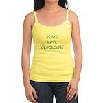 Peace Love Geocaching - Green Jr. Spaghetti Tank