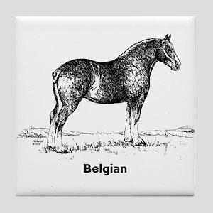 Belgian Draft Horse Tile Coaster
