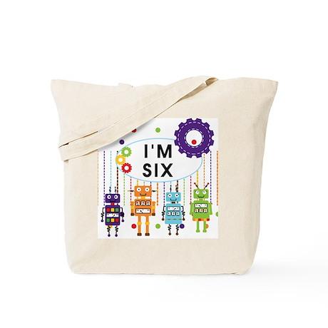 Robot 6th Birthday Tote Bag