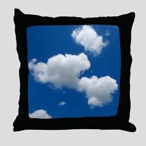 Clouds and Blue Sky Throw Pillow