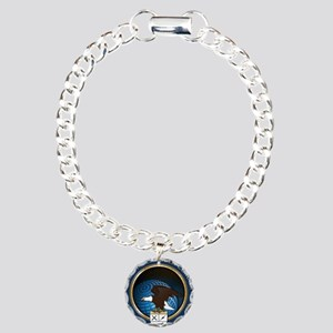 United States Cyber Command Charm Bracelet, One Ch