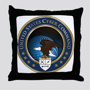 United States Cyber Command Throw Pillow