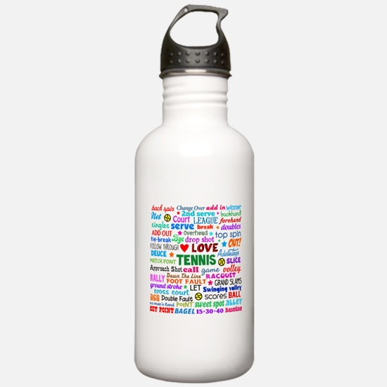Tennis Terms Water Bottle