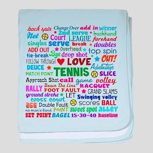 Tennis Terms baby blanket