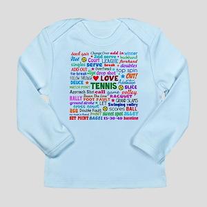 Tennis Terms Long Sleeve Infant T-Shirt