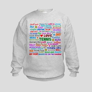 Tennis Terms Kids Sweatshirt