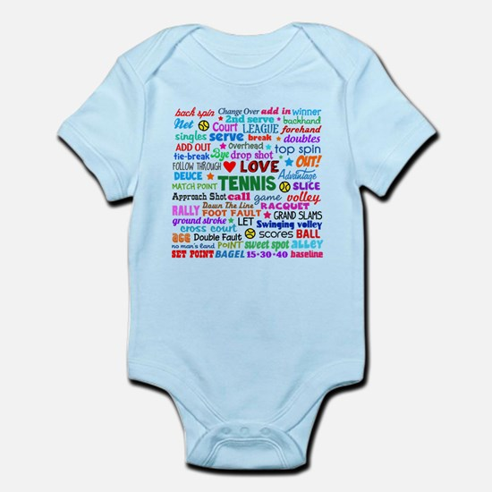 Tennis Terms Infant Bodysuit