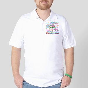 Tennis Terms Golf Shirt