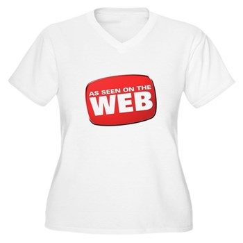 As Seen on the Web Women's Plus Size V-Neck T-Shir