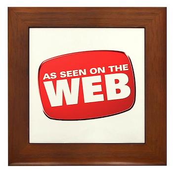 As Seen on the Web Framed Tile