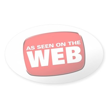 As Seen on the Web Sticker (Oval)