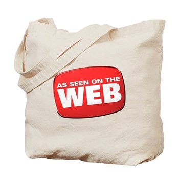 As Seen on the Web Tote Bag