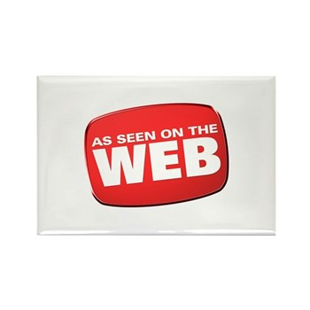 As Seen on the Web Rectangle Magnet (100 pack)