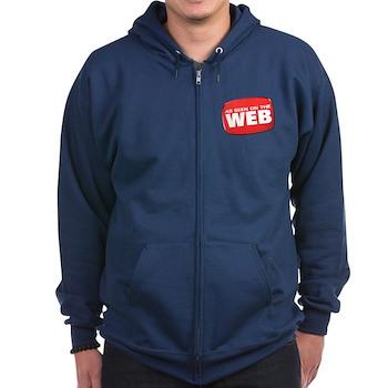 As Seen on the Web Zip Hoodie (dark)