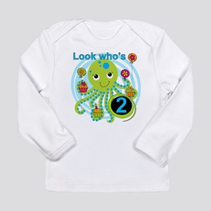 Octopus 2nd Birthday Long Sleeve Infant T-Shirt