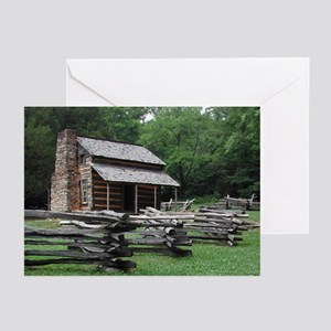 Cades Cove Log Cabin Greeting Cards (Pk of 10)