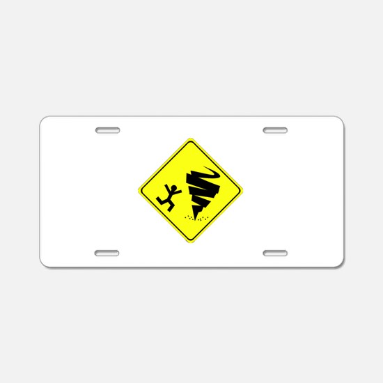 Funny Storm chaser Aluminum License Plate