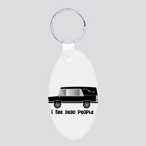 Funeral Director/Mortician Aluminum Oval Keychain