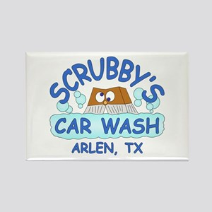 Scrubbys Car Wash Rectangle Magnet