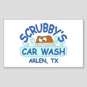 Scrubbys Car Wash Sticker (Rectangle)