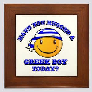 Have you hugged a Greek today? Framed Tile