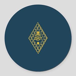 Zeta Beta Tau Fraternity Badge in Round Car Magnet