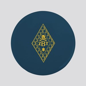 Zeta Beta Tau Fraternity Badge in Yellow wi Button