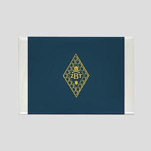 Zeta Beta Tau Fraternity Badge in Rectangle Magnet