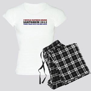 Drink Santorum 2012 Times Women's Light Pajamas