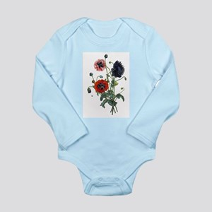 Poppy Art Long Sleeve Infant Bodysuit