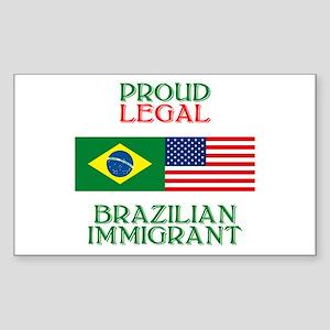 Brazilian Immigrant Rectangle Sticker
