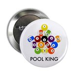 "Pool King 2.25"" Button (100 pack)"