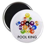 "Pool King 2.25"" Magnet (100 pack)"