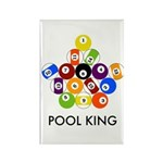 Pool King Rectangle Magnet