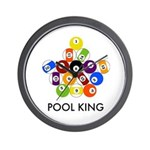 Pool King Wall Clock