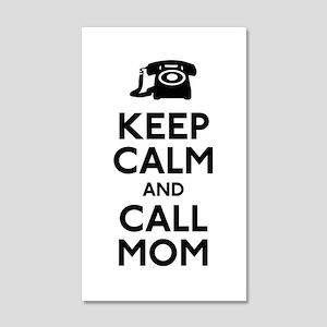 Keep Calm and Call Mom 20x12 Wall Decal