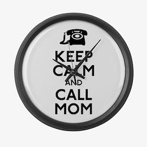 Keep Calm and Call Mom Large Wall Clock