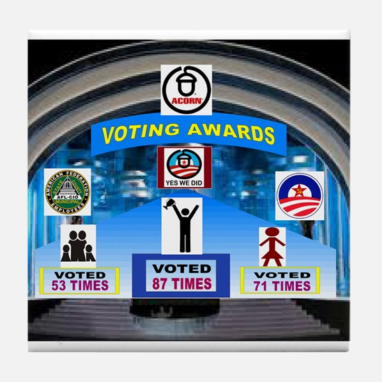 VOTE EARLY AND OFTEN Tile Coaster