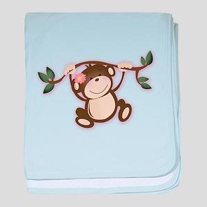 Monkey Play baby blanket