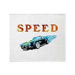 Speed Cars Throw Blanket