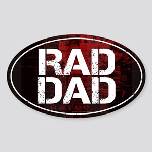Rad Dad Sticker (Oval)