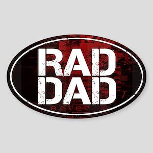 Rad Dad Sticker (Oval)
