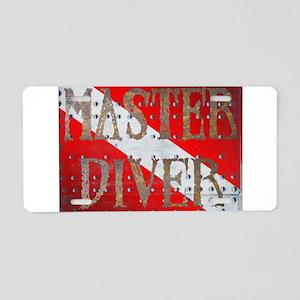 Iron Master Diver Aluminum License Plate