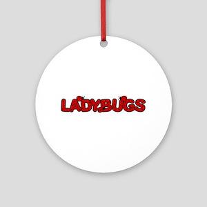 Ladybug2 Ornament (Round)