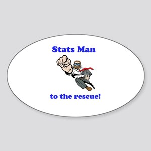 Stats Man Sticker (Oval)