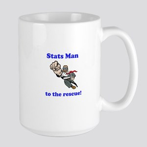 Stats Man Large Mug