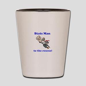 Stats Man Shot Glass