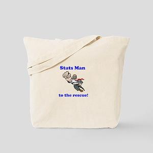 Stats Man Tote Bag