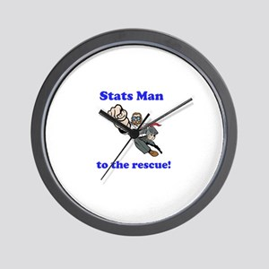 Stats Man Wall Clock